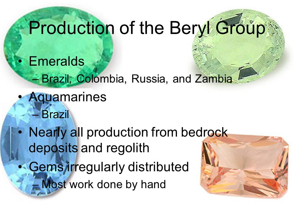 Production of the Beryl Group