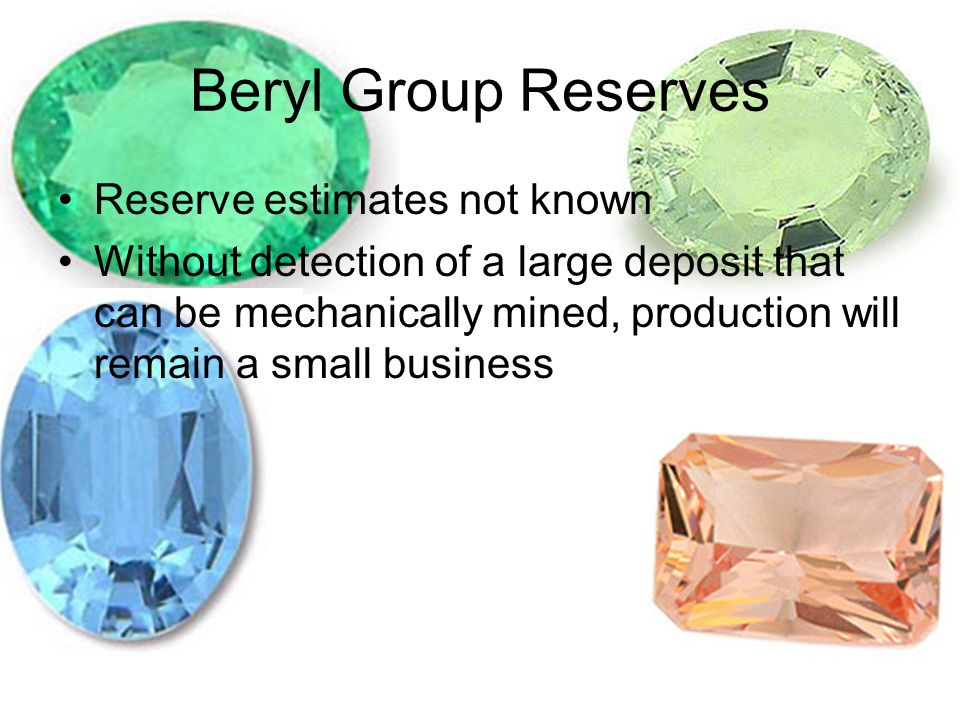 Beryl Group Reserves Reserve estimates not known