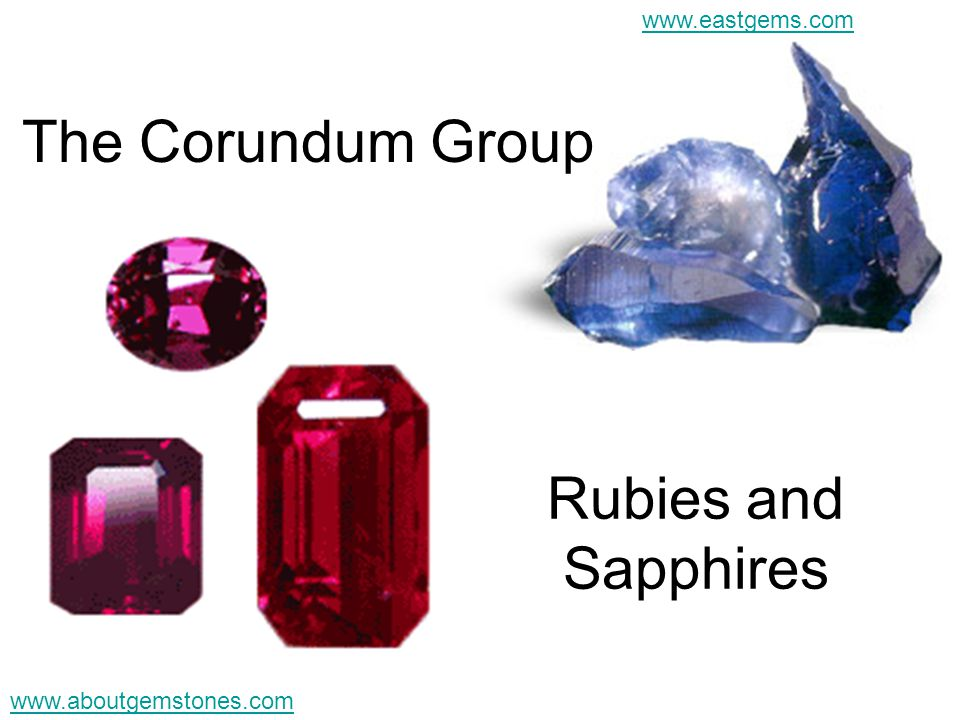 The Corundum Group Rubies and Sapphires