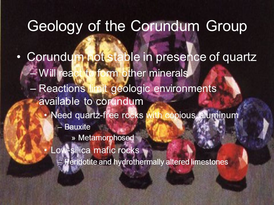 Geology of the Corundum Group