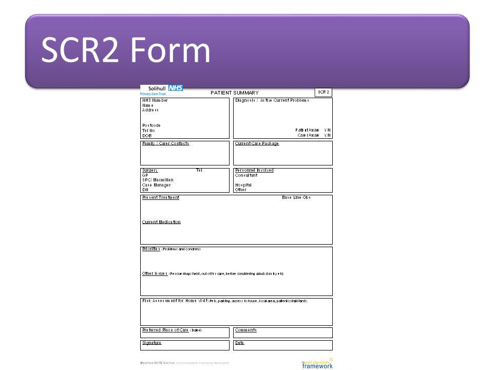 SCR2 Form