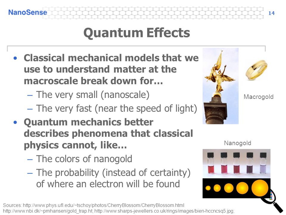 14 Quantum Effects. Classical mechanical models that we use to understand matter at the macroscale break down for…