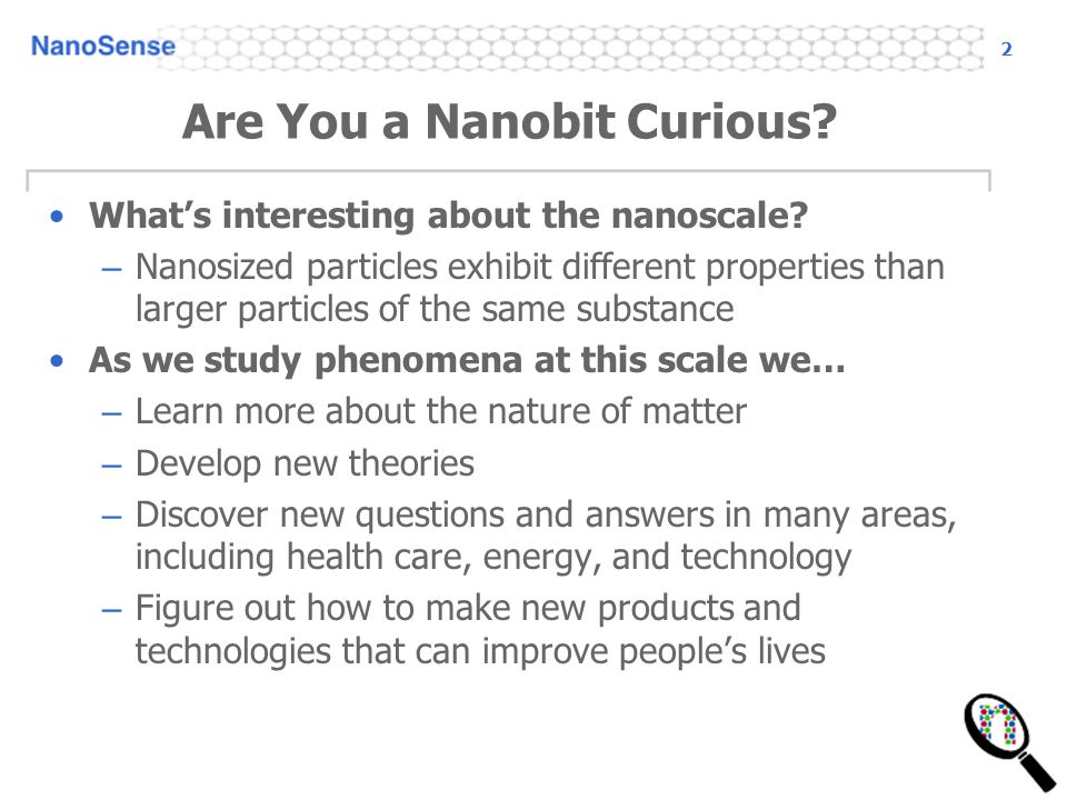 Are You a Nanobit Curious