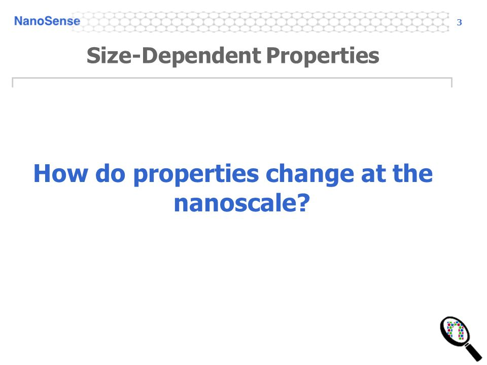 Size-Dependent Properties