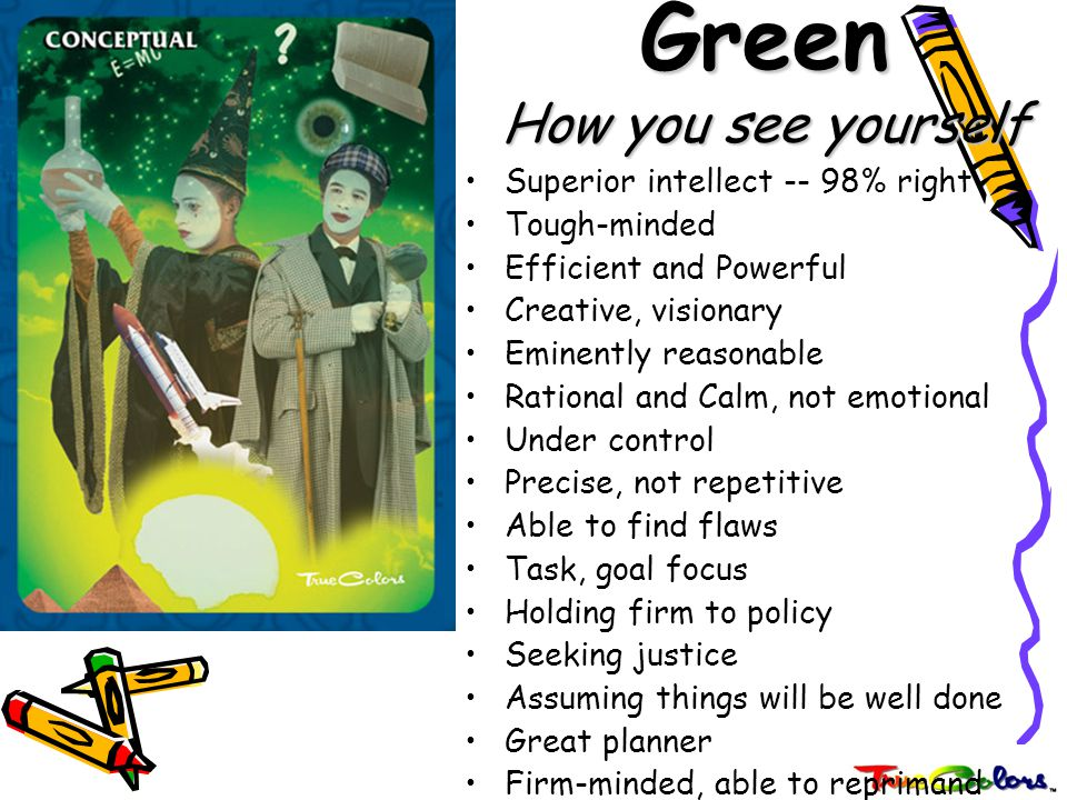 Green How you see yourself