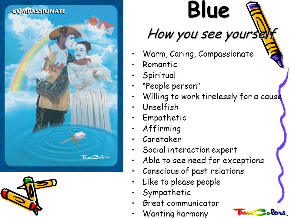 Blue How you see yourself