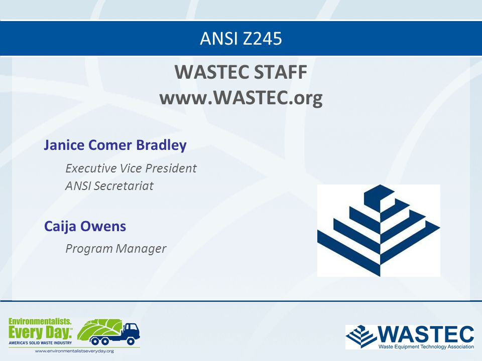 WASTEC STAFF www.WASTEC.org