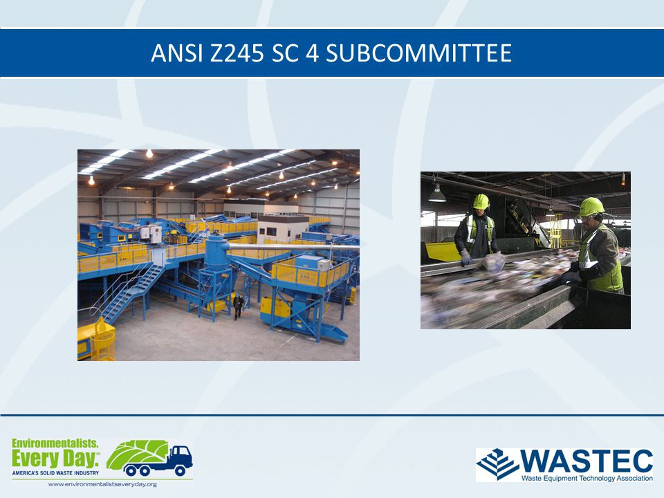 ANSI Z245 SC 4 subcommittee 28