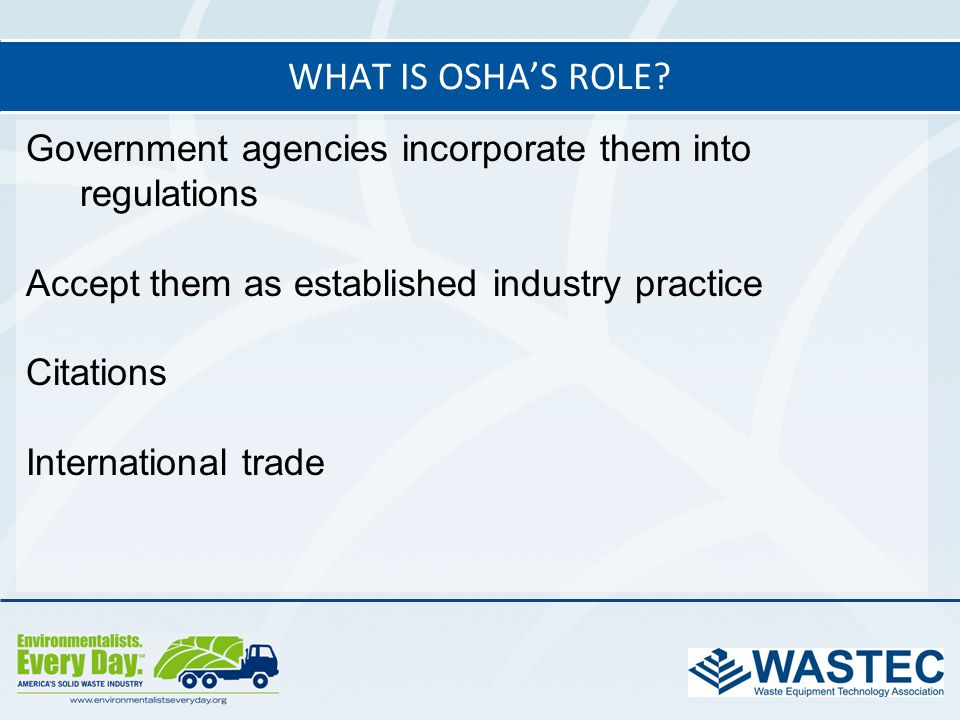 What is osha's role