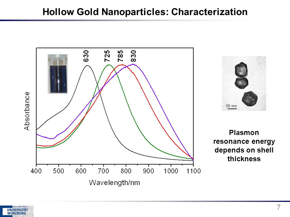Hollow Gold Nanoparticles: Characterization