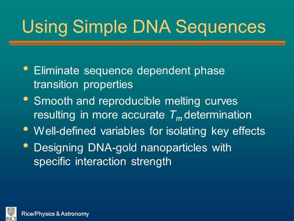 Using Simple DNA Sequences