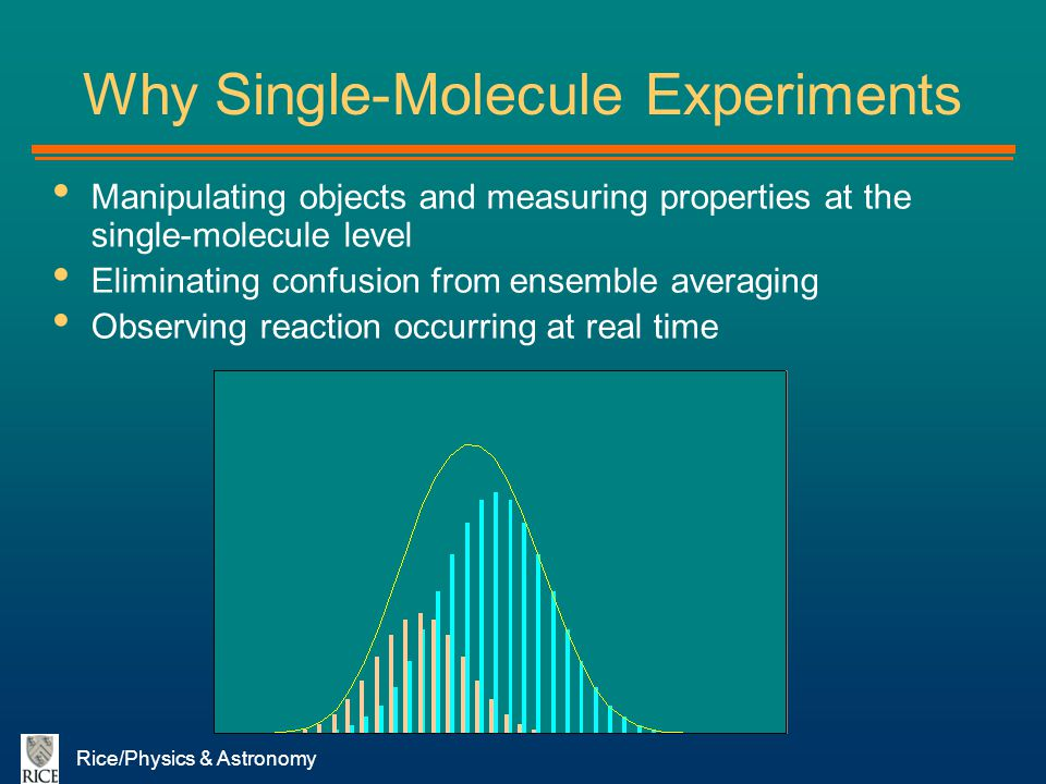 Why Single-Molecule Experiments