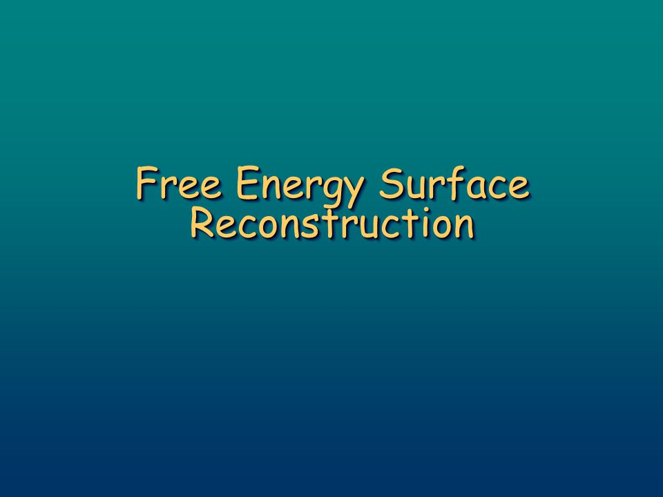 Free Energy Surface Reconstruction