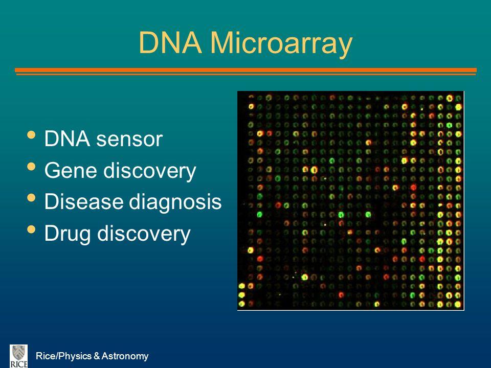DNA Microarray DNA sensor Gene discovery Disease diagnosis