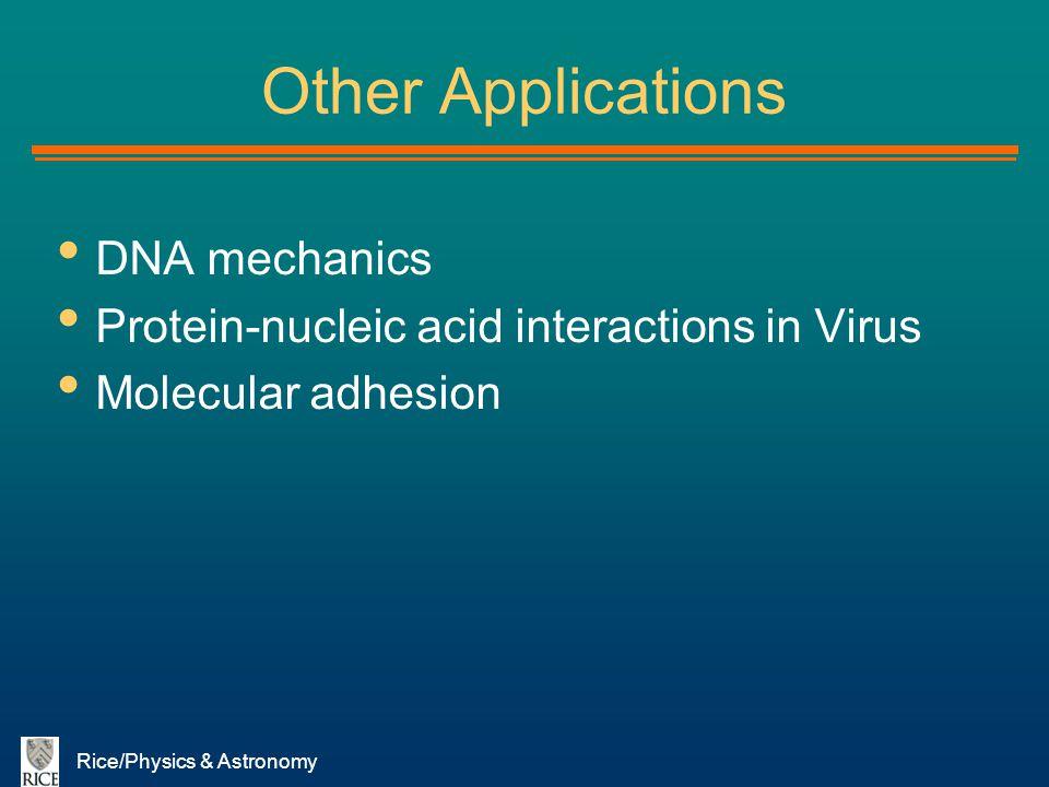 Other Applications DNA mechanics