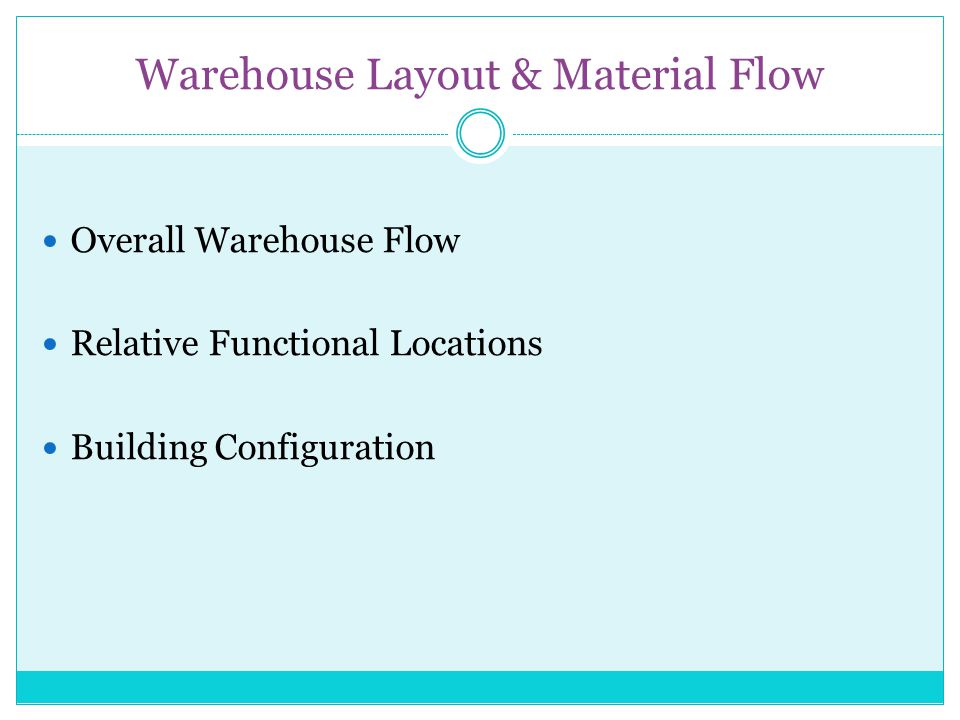 Warehouse Layout & Material Flow