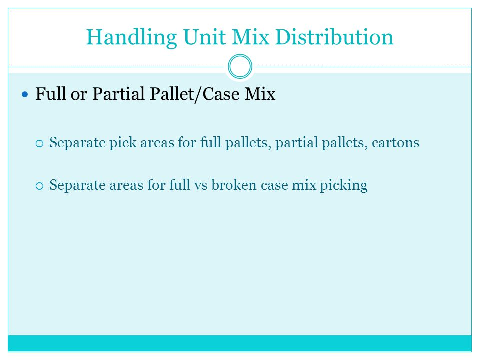 Handling Unit Mix Distribution