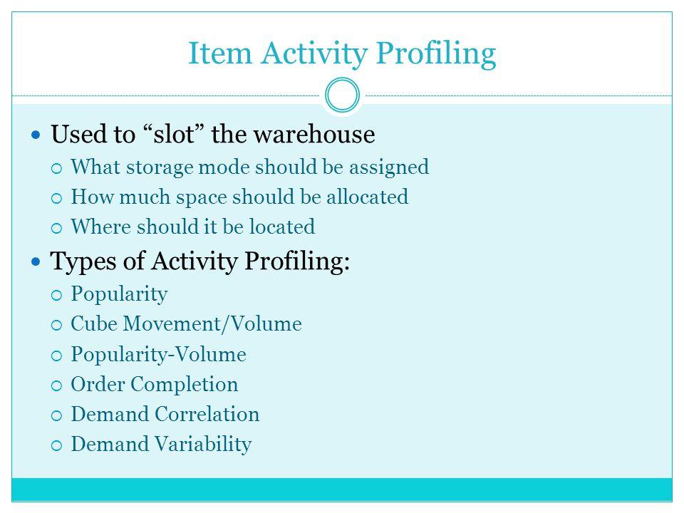 Item Activity Profiling