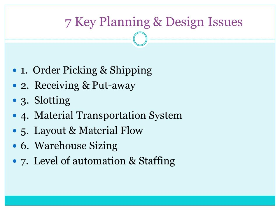 7 Key Planning & Design Issues