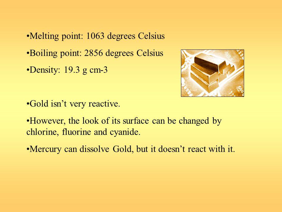 Melting point: 1063 degrees Celsius