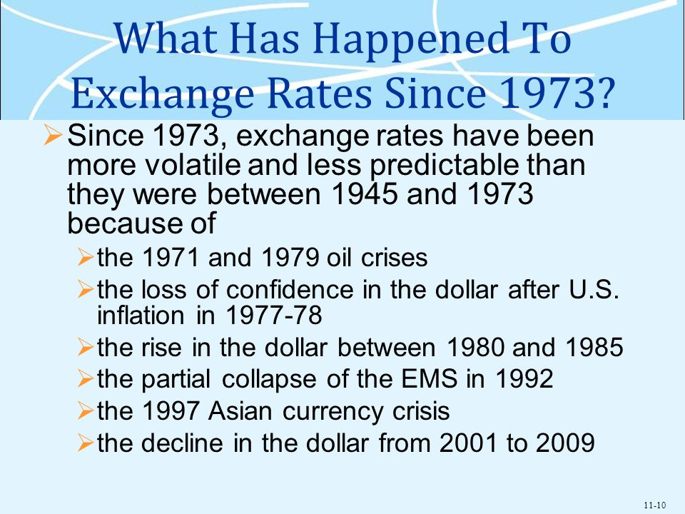 What Has Happened To Exchange Rates Since 1973