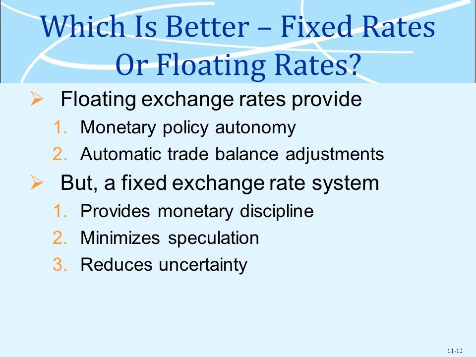Which Is Better – Fixed Rates Or Floating Rates