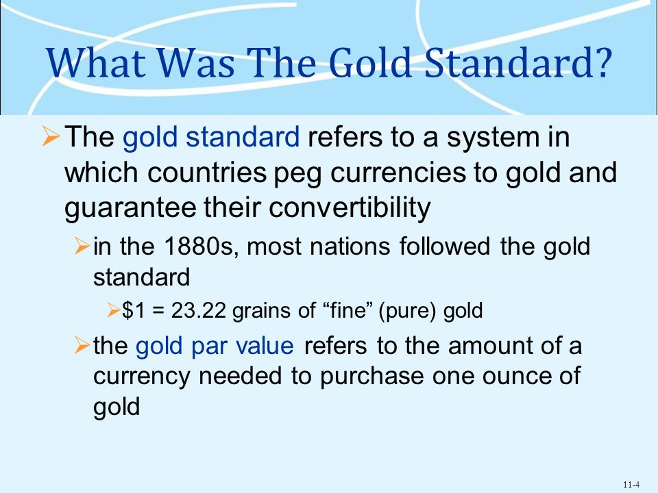 What Was The Gold Standard
