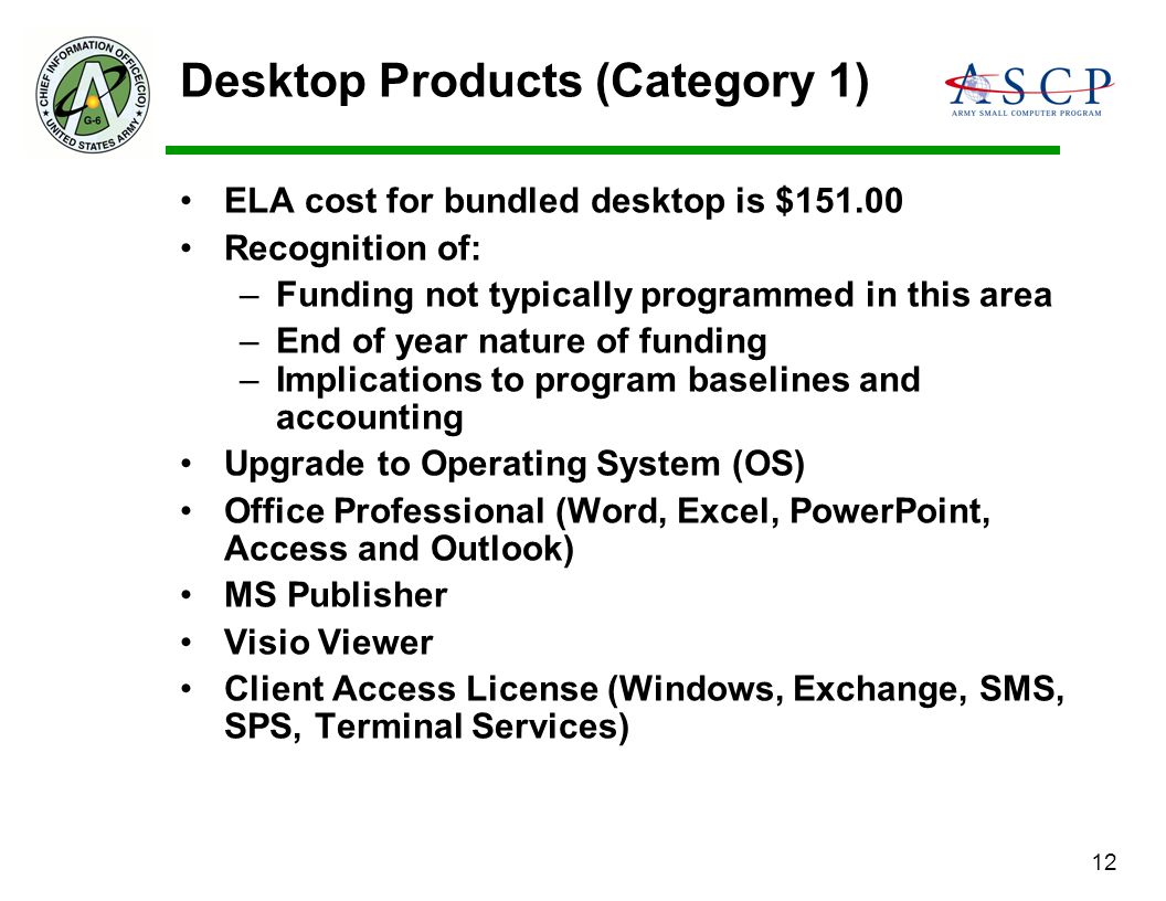 Desktop Products (Category 1)