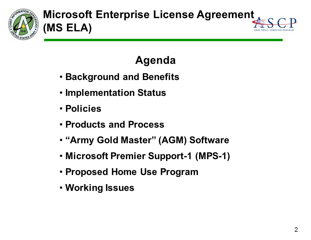 Microsoft Enterprise License Agreement (MS ELA)