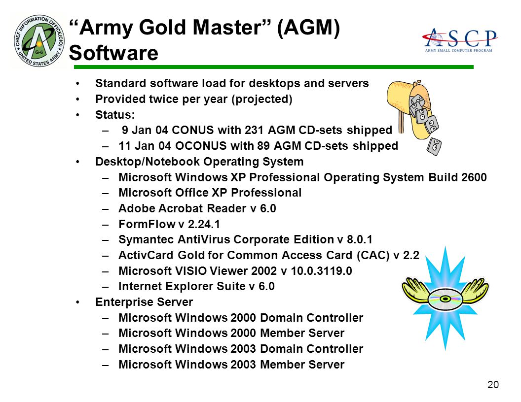 Army Gold Master (AGM) Software