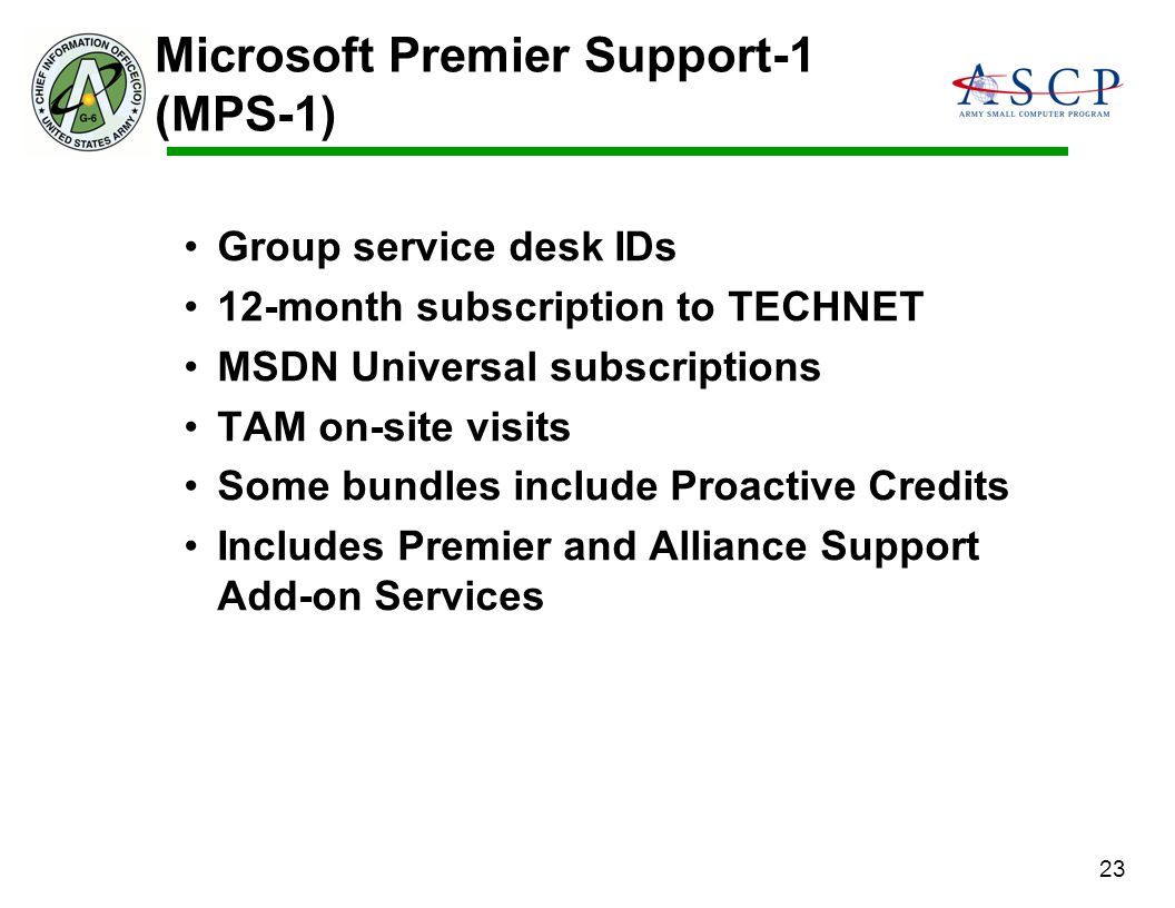 Microsoft Premier Support-1 (MPS-1)