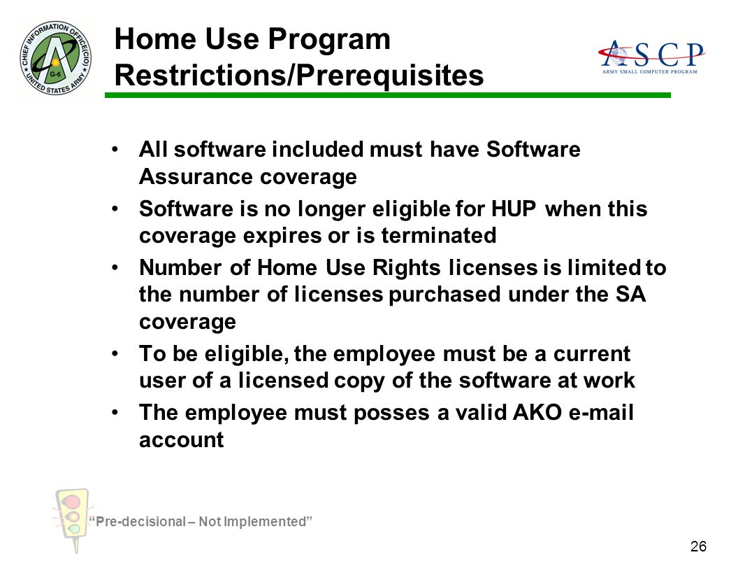 Home Use Program Restrictions/Prerequisites