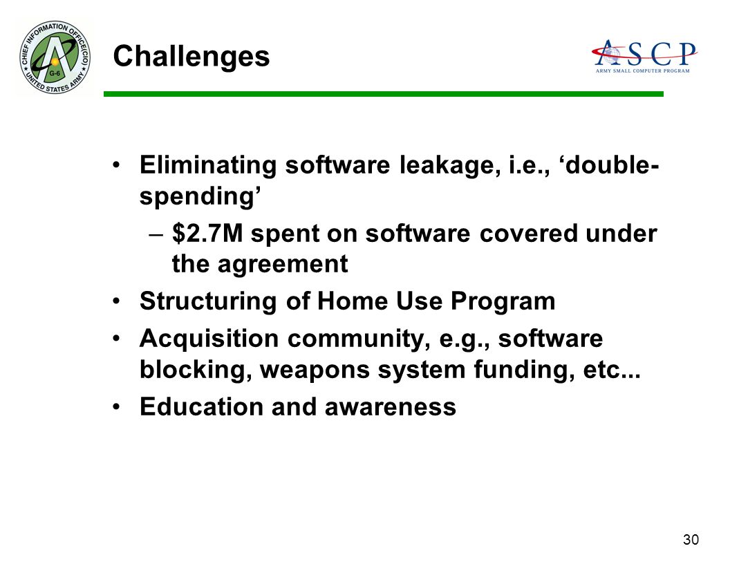 Challenges Eliminating software leakage, i.e., 'double-spending'