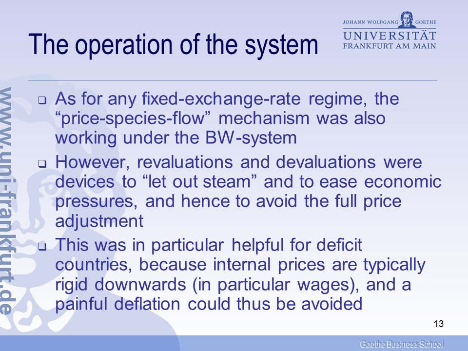 The operation of the system
