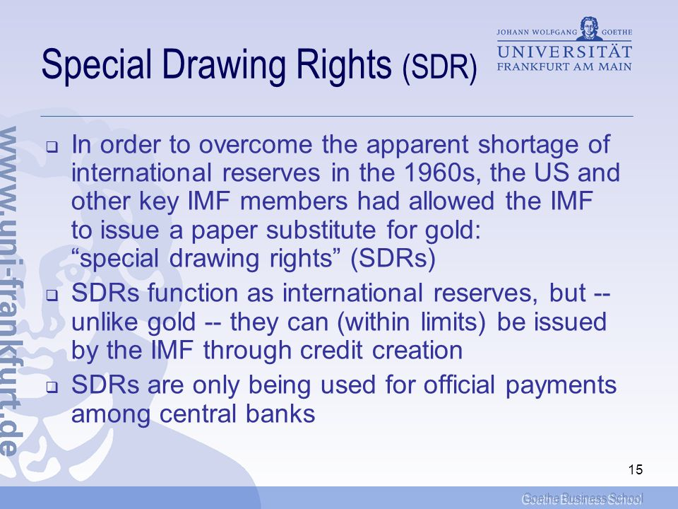Special Drawing Rights (SDR)