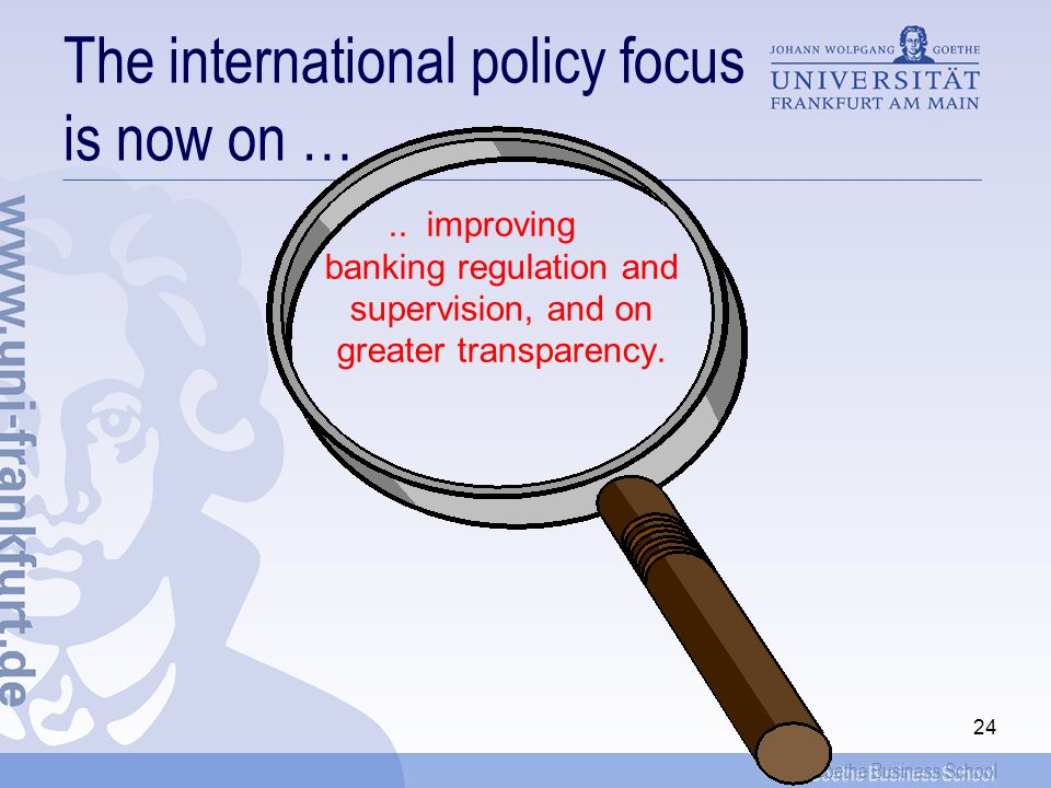 The international policy focus is now on …