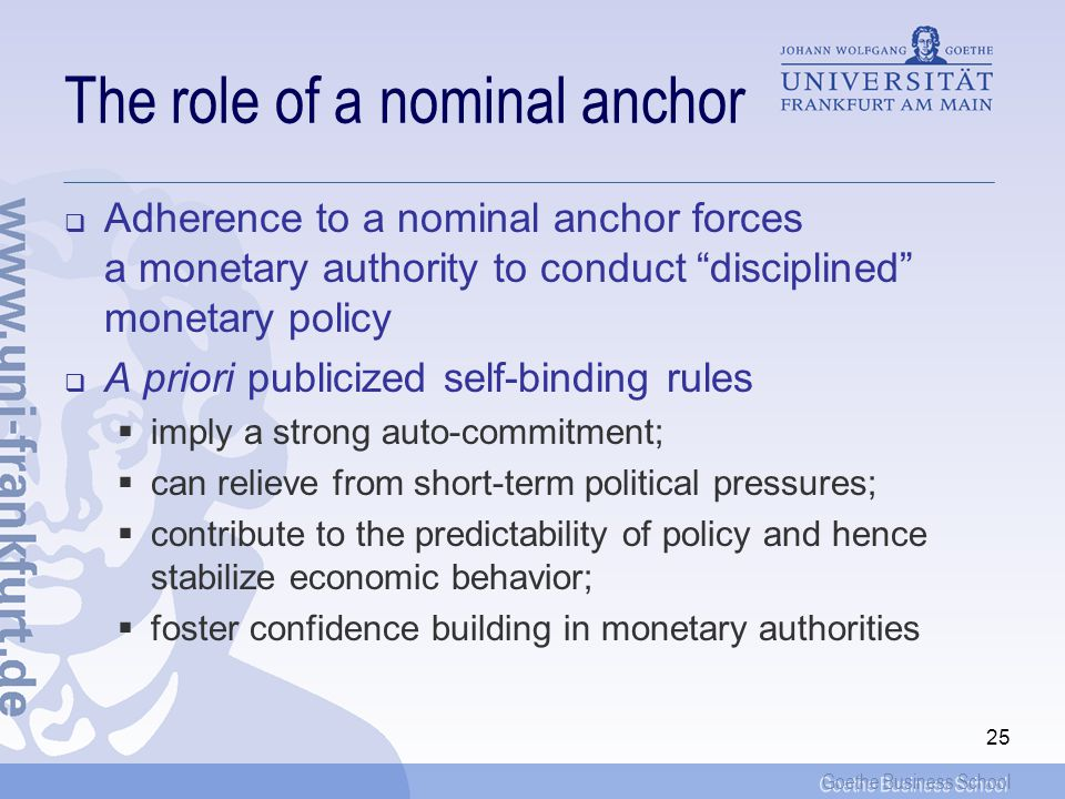 The role of a nominal anchor