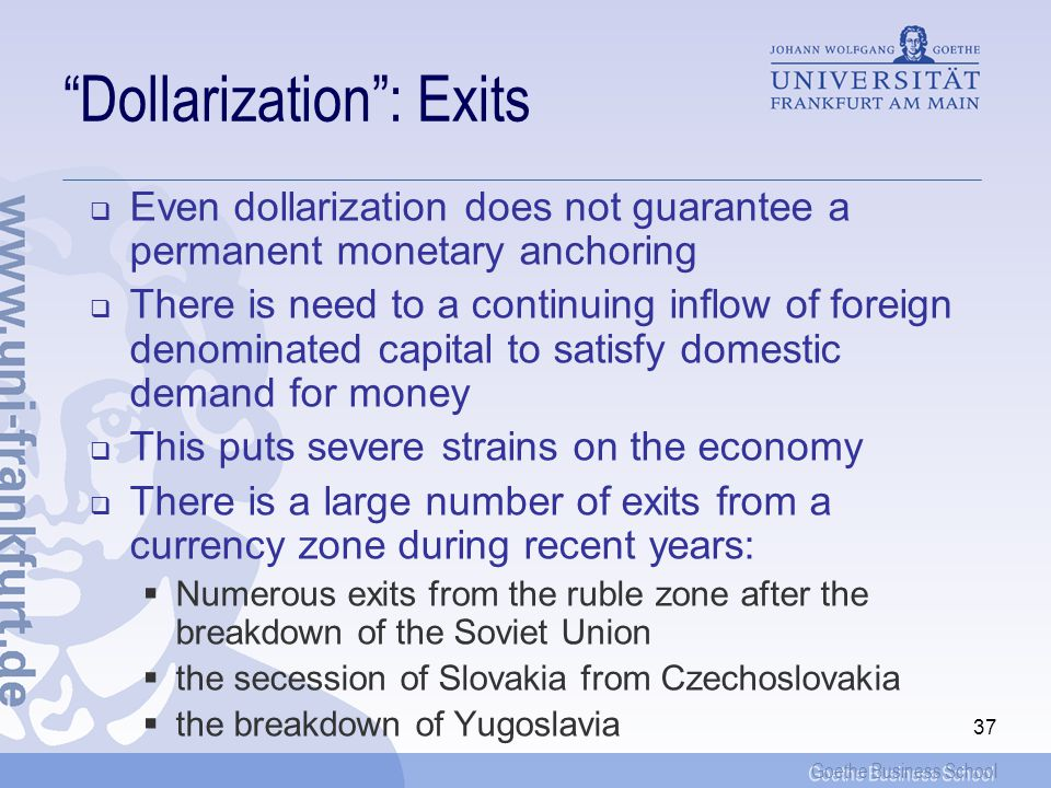Dollarization : Exits