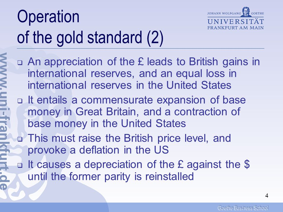 Operation of the gold standard (2)
