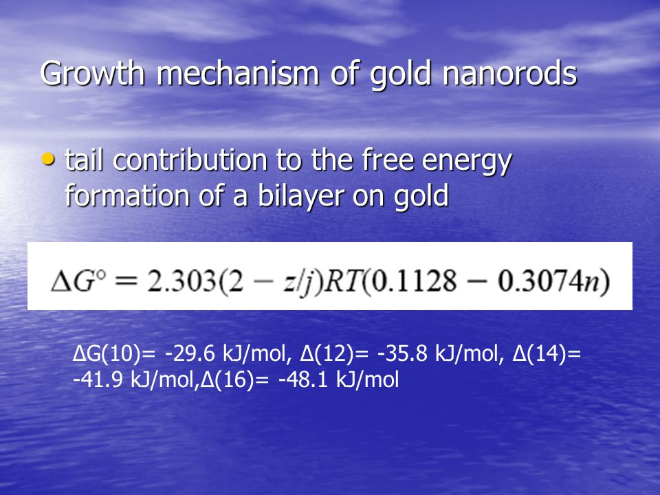 Growth mechanism of gold nanorods