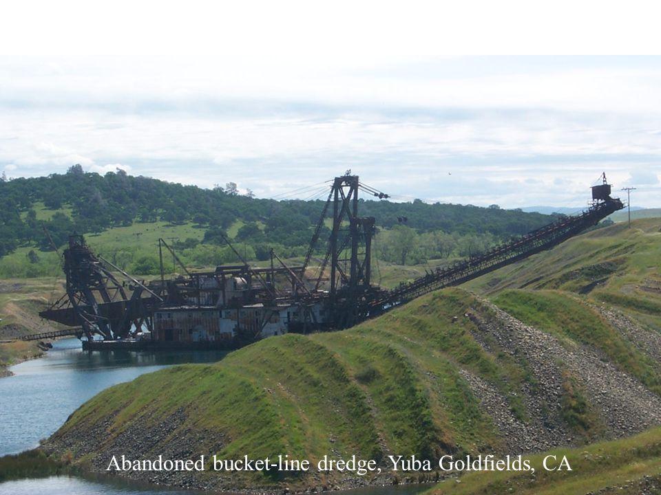 Abandoned bucket-line dredge, Yuba Goldfields, CA