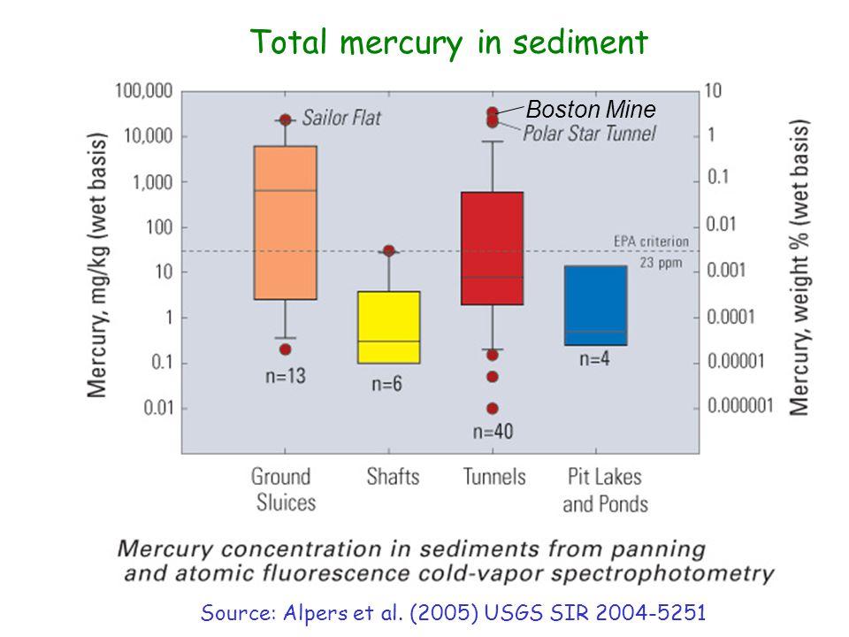 Total mercury in sediment