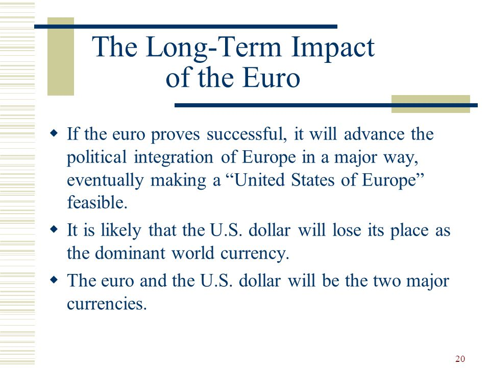 The Long-Term Impact of the Euro