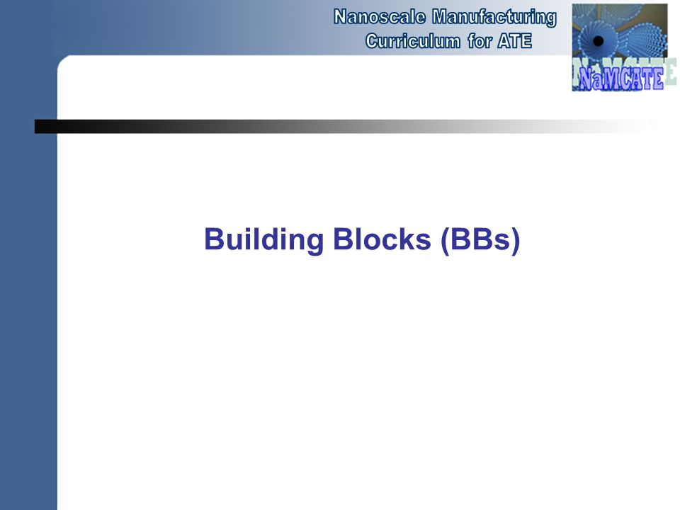 Building Blocks (BBs)