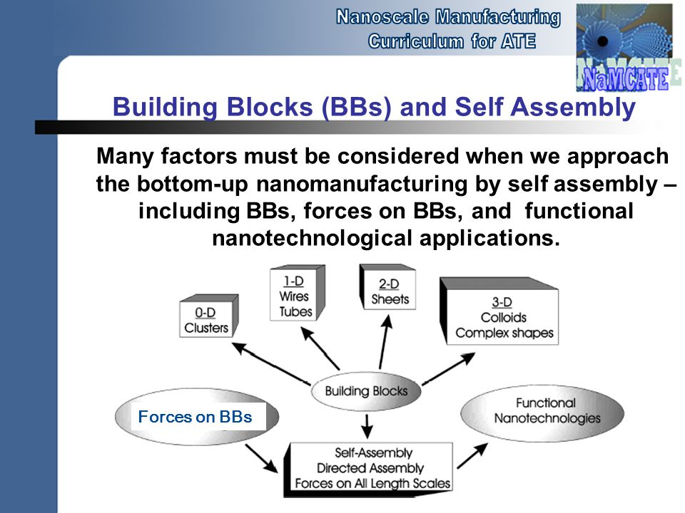Building Blocks (BBs) and Self Assembly