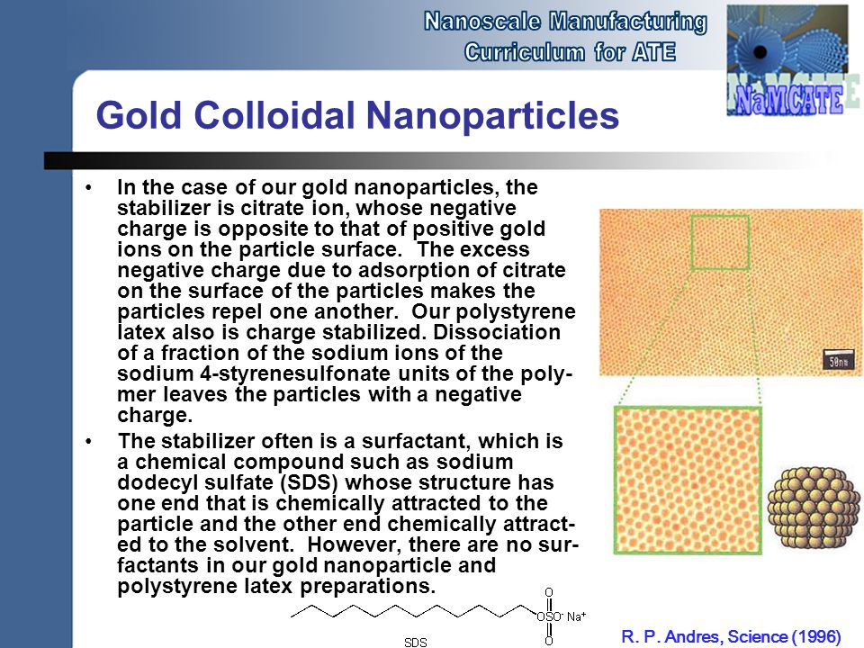 Gold Colloidal Nanoparticles