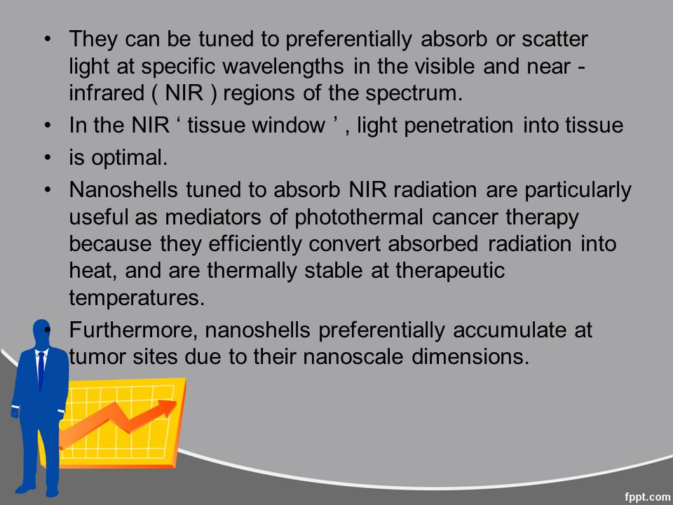 They can be tuned to preferentially absorb or scatter light at specific wavelengths in the visible and near - infrared ( NIR ) regions of the spectrum.