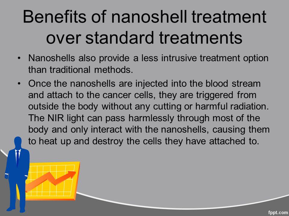 Benefits of nanoshell treatment over standard treatments