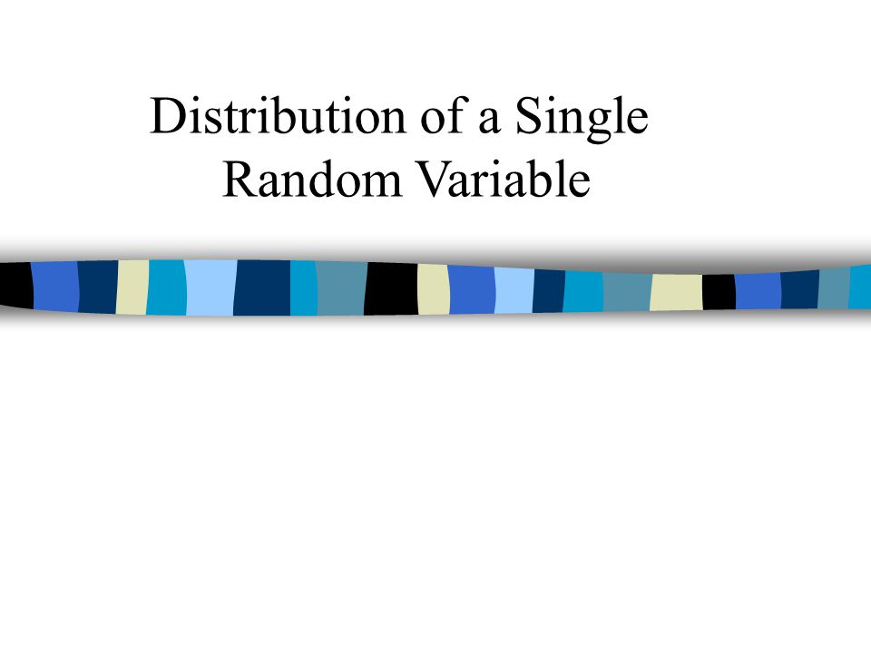 Distribution of a Single