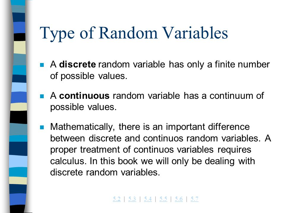 Type of Random Variables